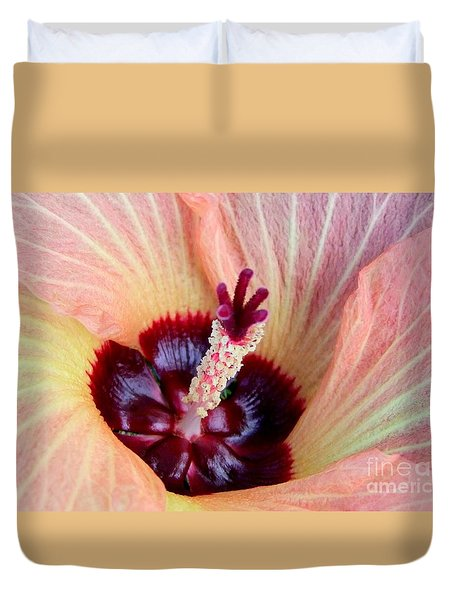 Evening Hau Blossom Duvet Cover by Mary Deal