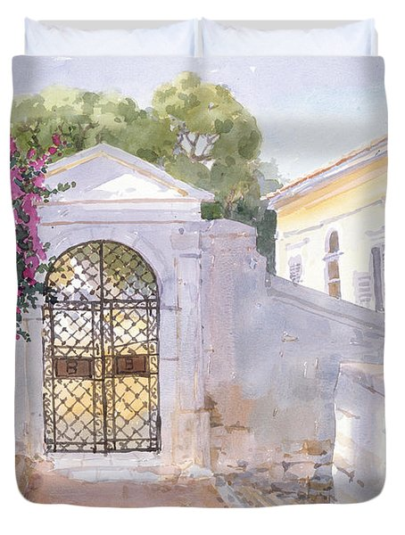 Evening Hroussa Duvet Cover by Lucy Willis