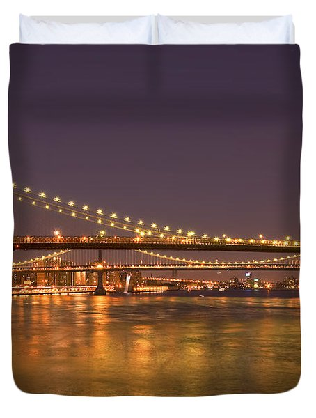 Evening II New York City Usa Duvet Cover by Sabine Jacobs
