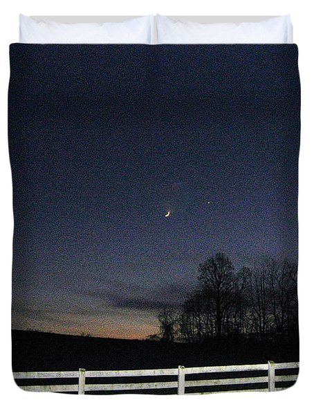 Duvet Cover featuring the photograph Evening In Horse Country by Judith Morris