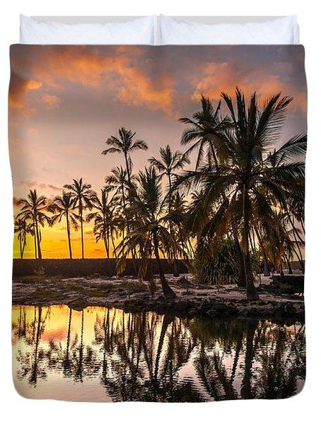 Evening In Paradise Duvet Cover