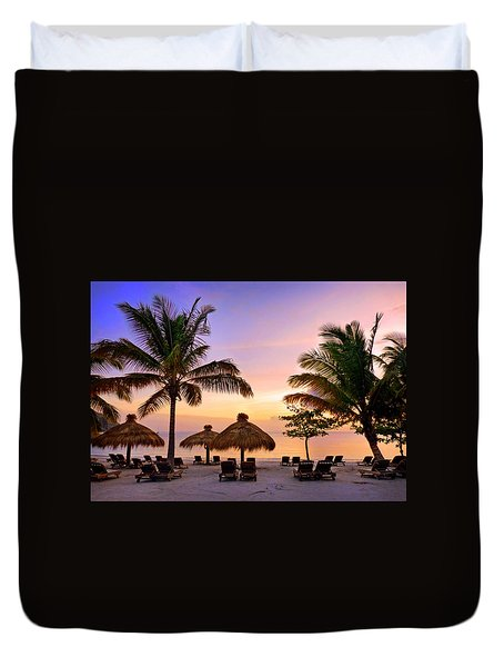 Evening In St. Lucia Duvet Cover