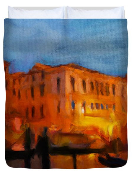 Evening In Venice Duvet Cover