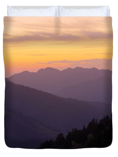 Evening Layers Duvet Cover