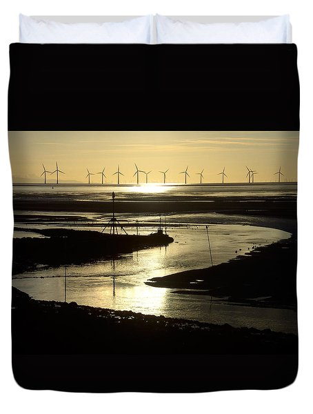 Evening Low Tide 2 Duvet Cover