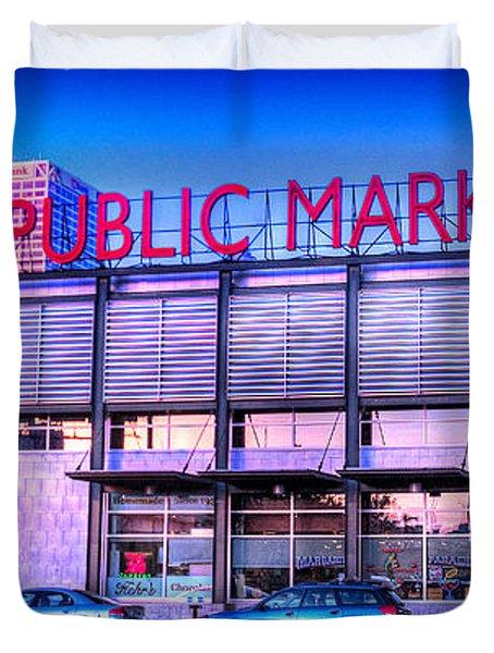 Evening Milwaukee Public Market Duvet Cover