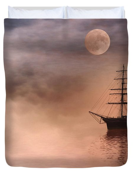 Evening Mists Duvet Cover by John Edwards