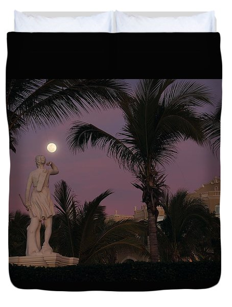 Evening Moon Duvet Cover by Shane Bechler