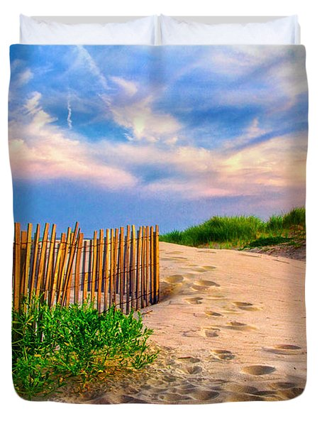 Evening On The Beach Duvet Cover