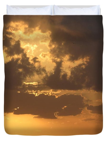Duvet Cover featuring the photograph Evening Over Lake George by Fortunate Findings Shirley Dickerson