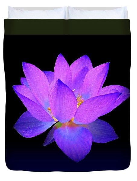 Evening Purple Lotus  Duvet Cover
