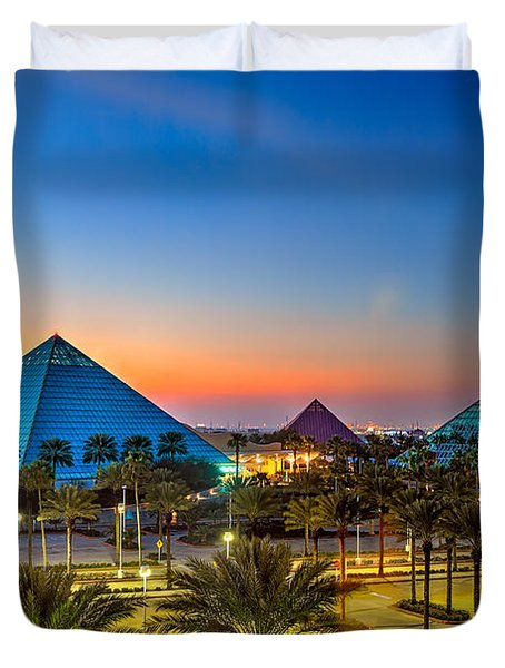 Evening Pyramids Duvet Cover