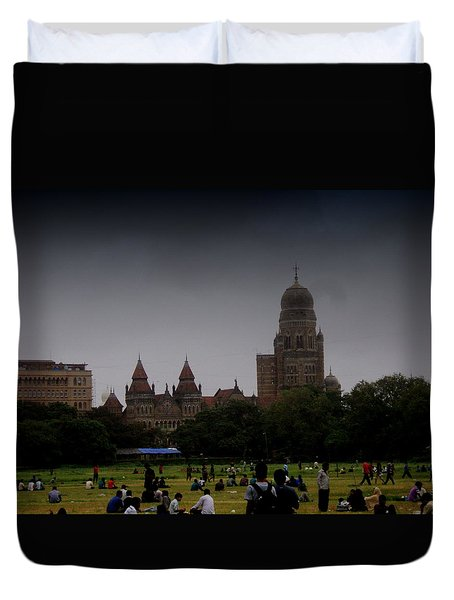 Duvet Cover featuring the photograph Evening by Salman Ravish