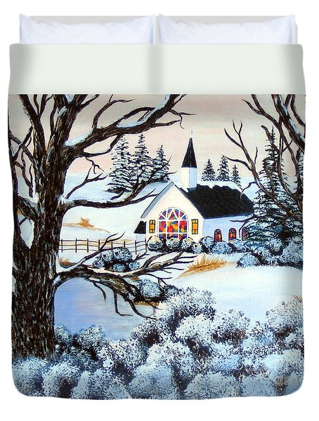 Evening Services Duvet Cover by Barbara Griffin