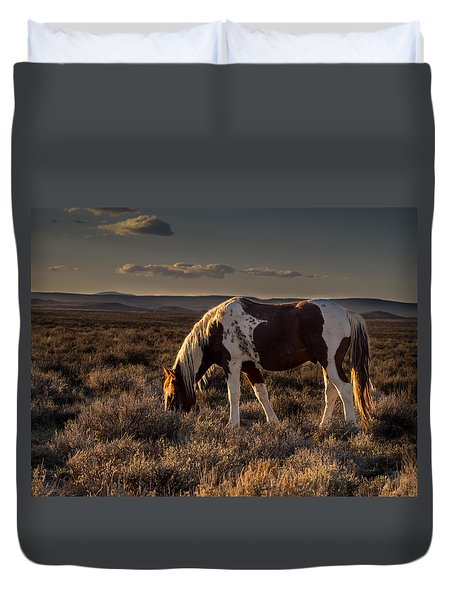 Evening Solitude In Sand Wash Basin Duvet Cover