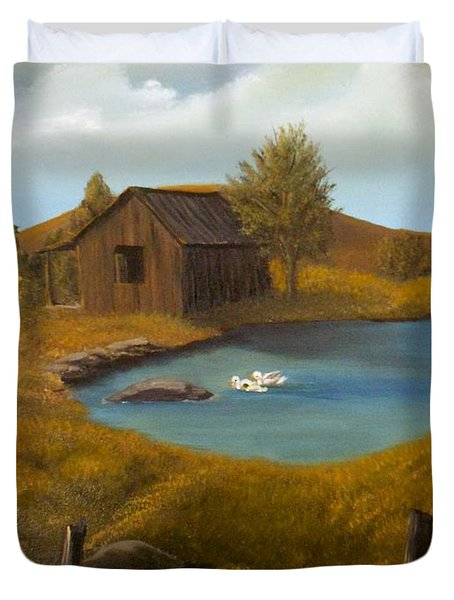 Evening Solitude Duvet Cover by Sheri Keith