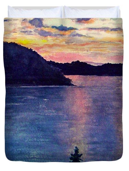 Evening Song Duvet Cover by Brenda Owen