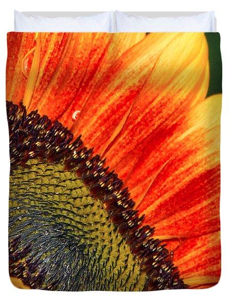 Evening Sun Sunflower Duvet Cover