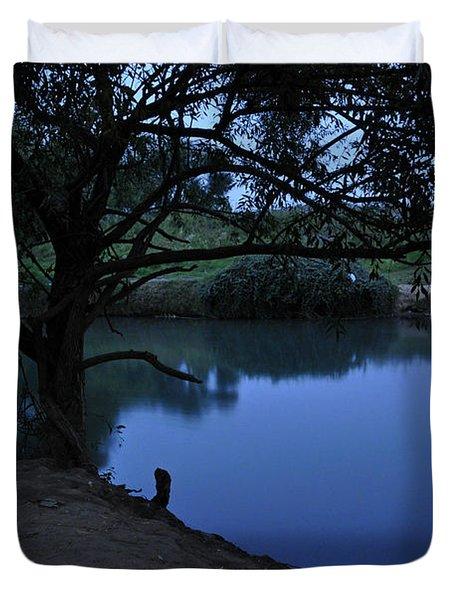 Evening Time At Kfar Blum Duvet Cover