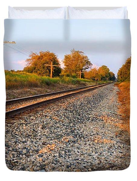 Evening Tracks Duvet Cover by Lars Lentz