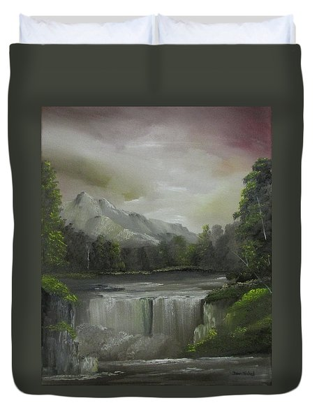 Evening Waterfalls Duvet Cover