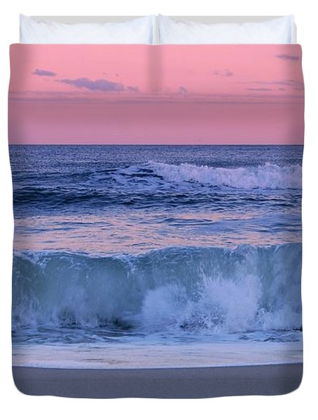 Evening Waves - Jersey Shore Duvet Cover