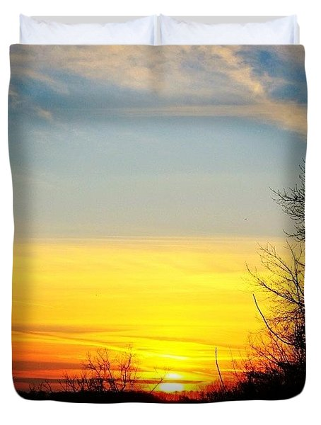 Evening Winter Sky Duvet Cover