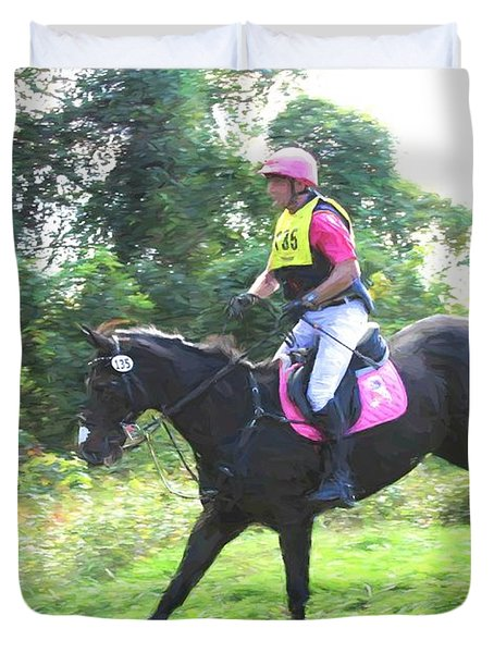 Eventing Pink Duvet Cover