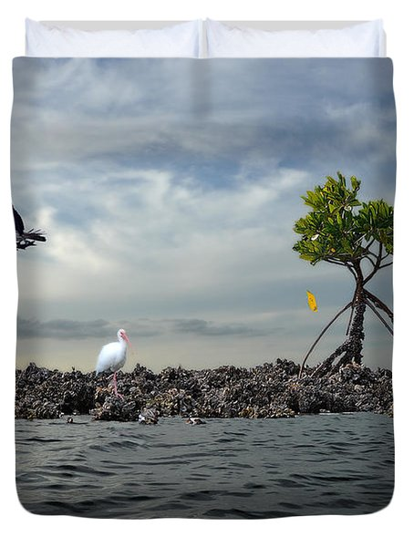 Duvet Cover featuring the photograph Everglade Scene by Dan Friend