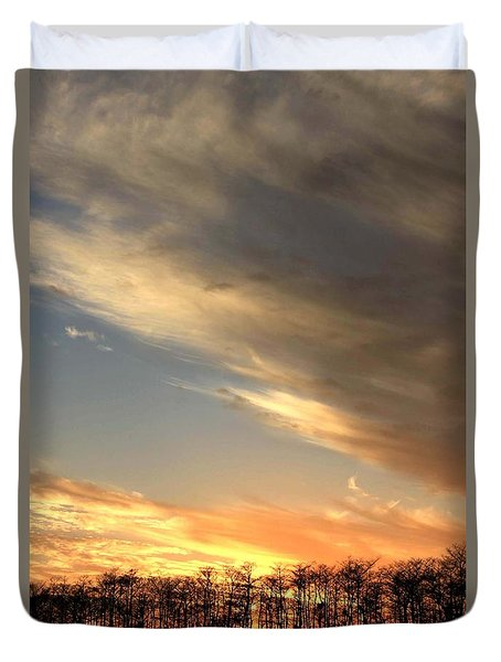Everglades Clouds Duvet Cover by AR Annahita
