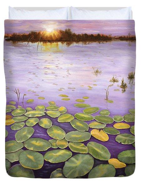 Everglades Evening Duvet Cover