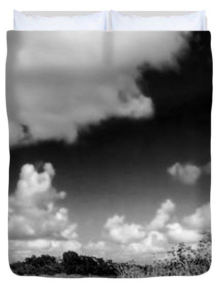 Everglades Panorama Duvet Cover by Rudy Umans