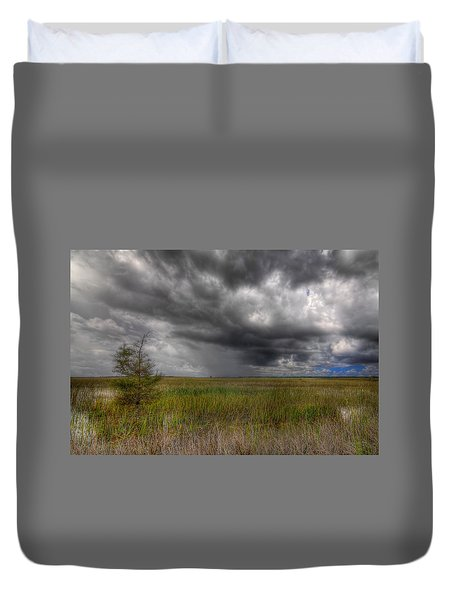 Everglades Storm Duvet Cover by Rudy Umans