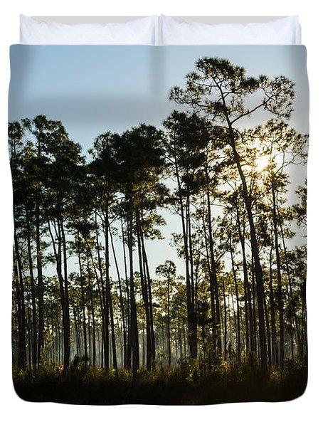 Everglades Sunrise Duvet Cover