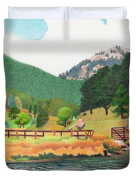 Evergreen Lake Spring Duvet Cover