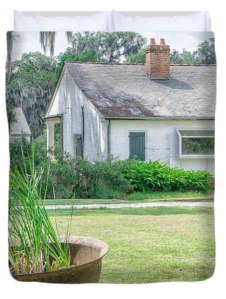 Evergreen Plantation Back Duvet Cover