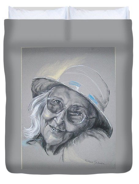 Everybodys Grandma Duvet Cover by Peter Suhocke