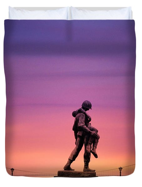 Everyday Is Memorial Day Duvet Cover by Bill Cannon