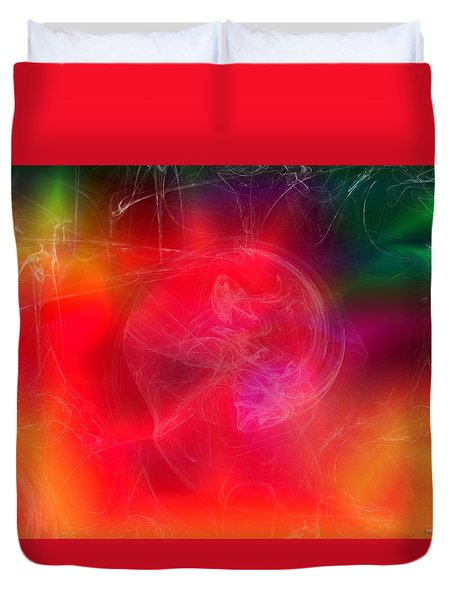 Everything Is Energy Duvet Cover by Martina  Rathgens