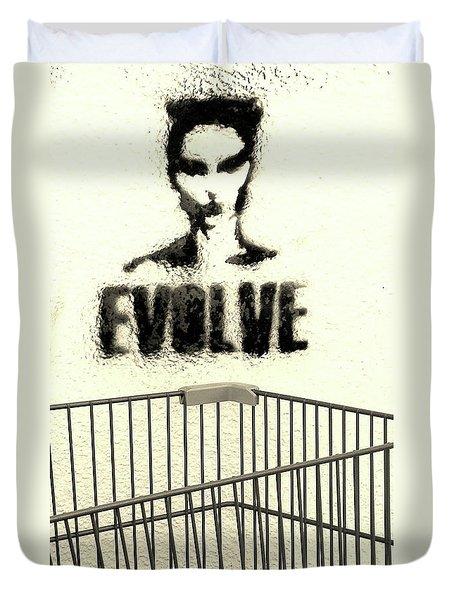 Evolution Gone Wrong Duvet Cover