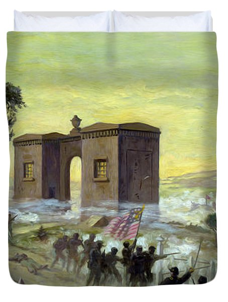 Ewells Charge On Cemetery Ridge Duvet Cover