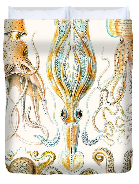 Examples Of Various Cephalopods Duvet Cover