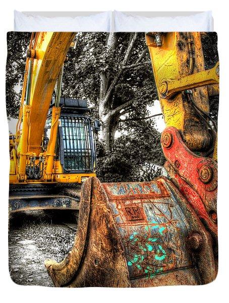 Excavator Duvet Cover