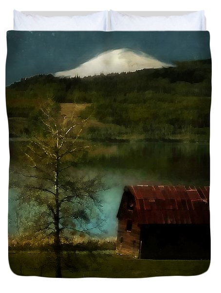 Excellence And Peace Duvet Cover by RC DeWinter