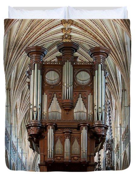 Exeter's King Of Instruments Duvet Cover