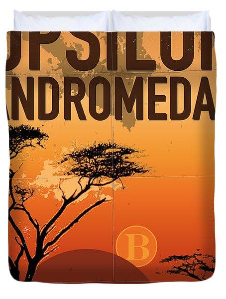 Exoplanet 06 Travel Poster Upsilon Andromedae 4 Duvet Cover