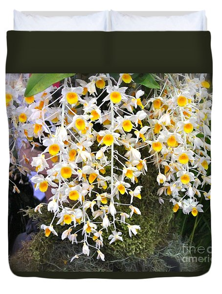 Exotic Aerides Duvet Cover by The Art of Alice Terrill