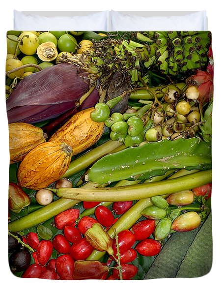 Exotic Fruits Duvet Cover