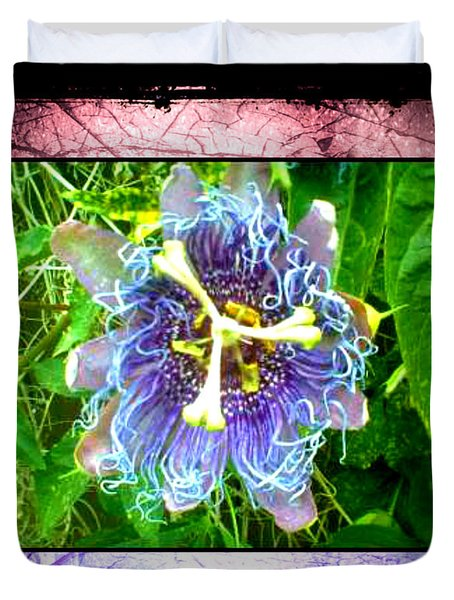 Exotic Strange Flower Duvet Cover by Absinthe Art By Michelle LeAnn Scott