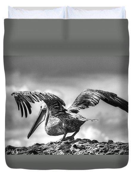 Expecting To Fly Duvet Cover